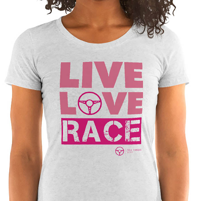 Women's Live, Love, RACE Tee