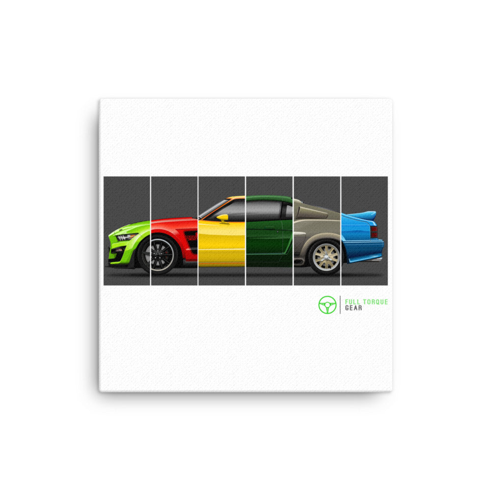 Mustang Generations Canvas Print
