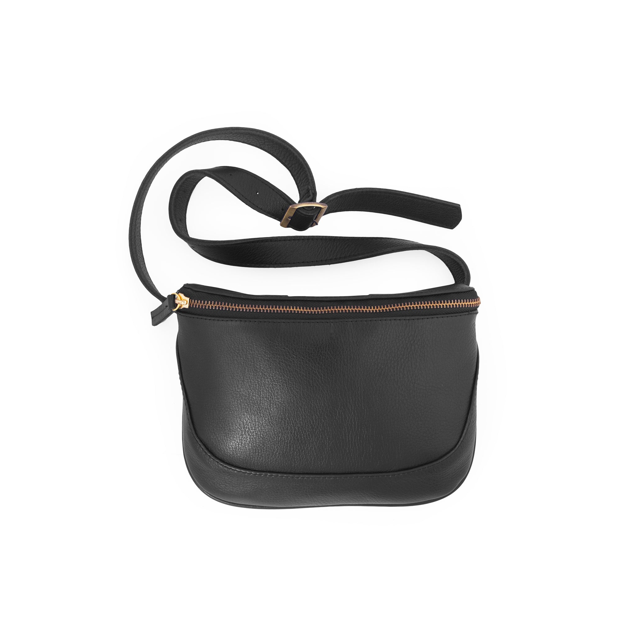 Soho-Belt Bag Leather Fanny Pack-Black