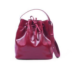 Lacy Bag-Large Leather Bucket Bag