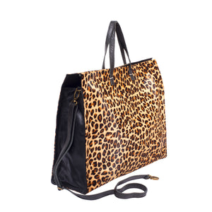 Cheetah Print Tote; Luxury Animal Print Tote Bag; Leopard Animal Print Handbags; Fairtrade Handbags; Bali Leather Manufacturer; Wholesale Leather Bags Bali; Leather Manufacturer Indonesia