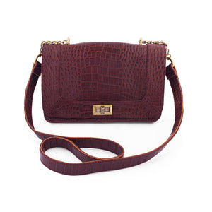 Becca-Crossbody Messenger Bag-Brown