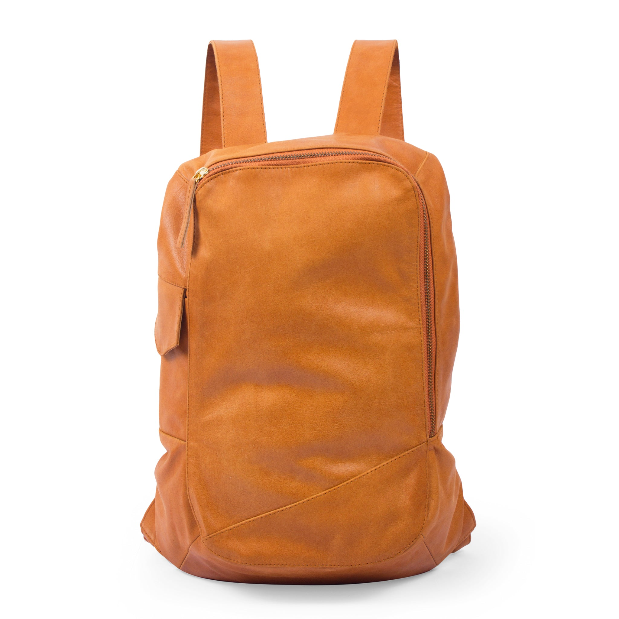 Brooklyn Leather Backpack-Tan