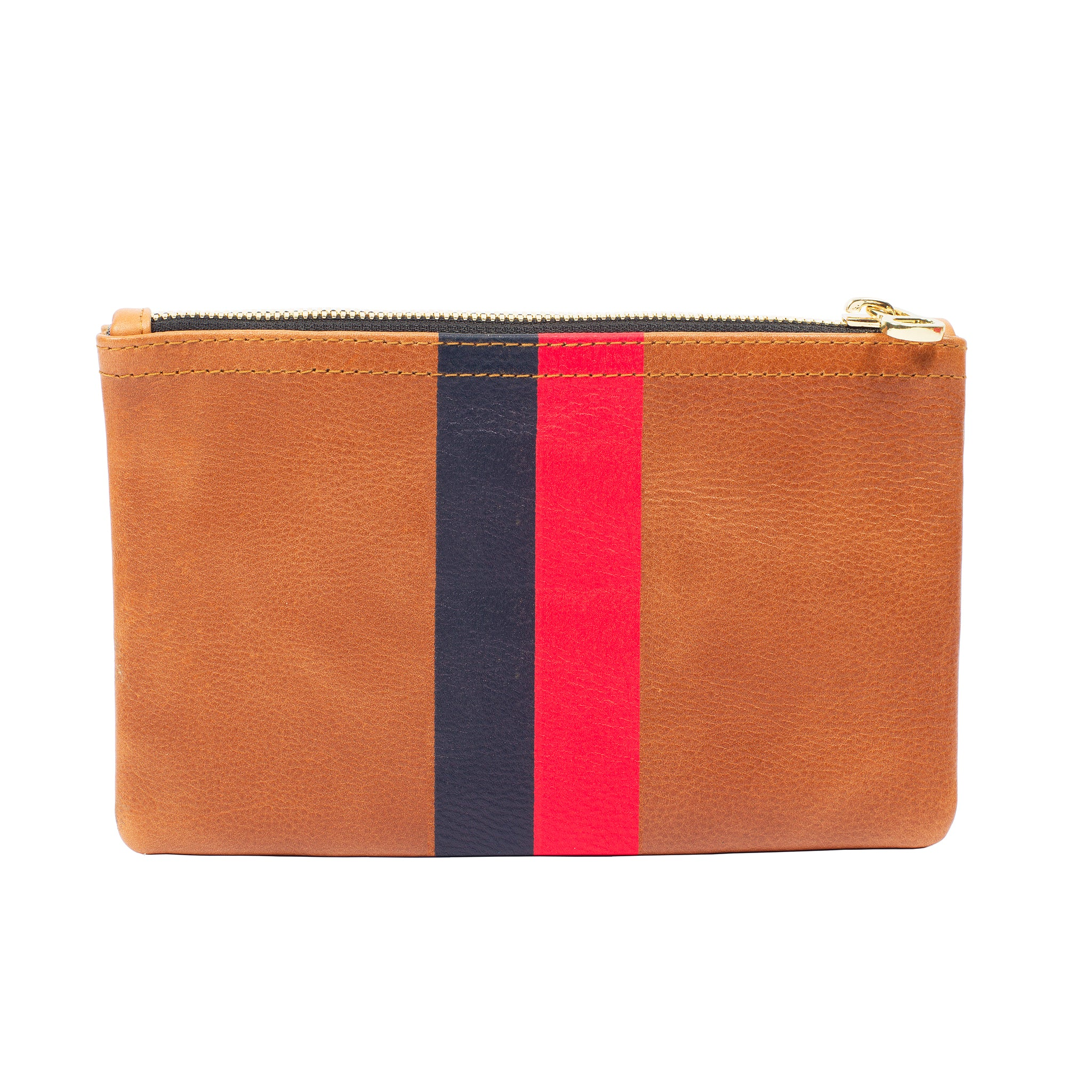 Red/Navy Stripe Flat Wallet Clutch