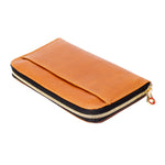 Leather zip wallet; Tan Leather Zip Wallet; Zipper Wallet; Simple Tan Zipper Wallet