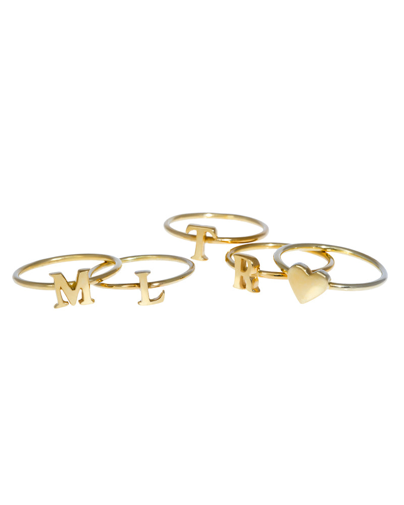 Alphabet Initial Letter 14k Ring Jewelry