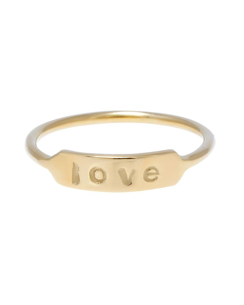 Custom Personalized Name Date 14k Ring