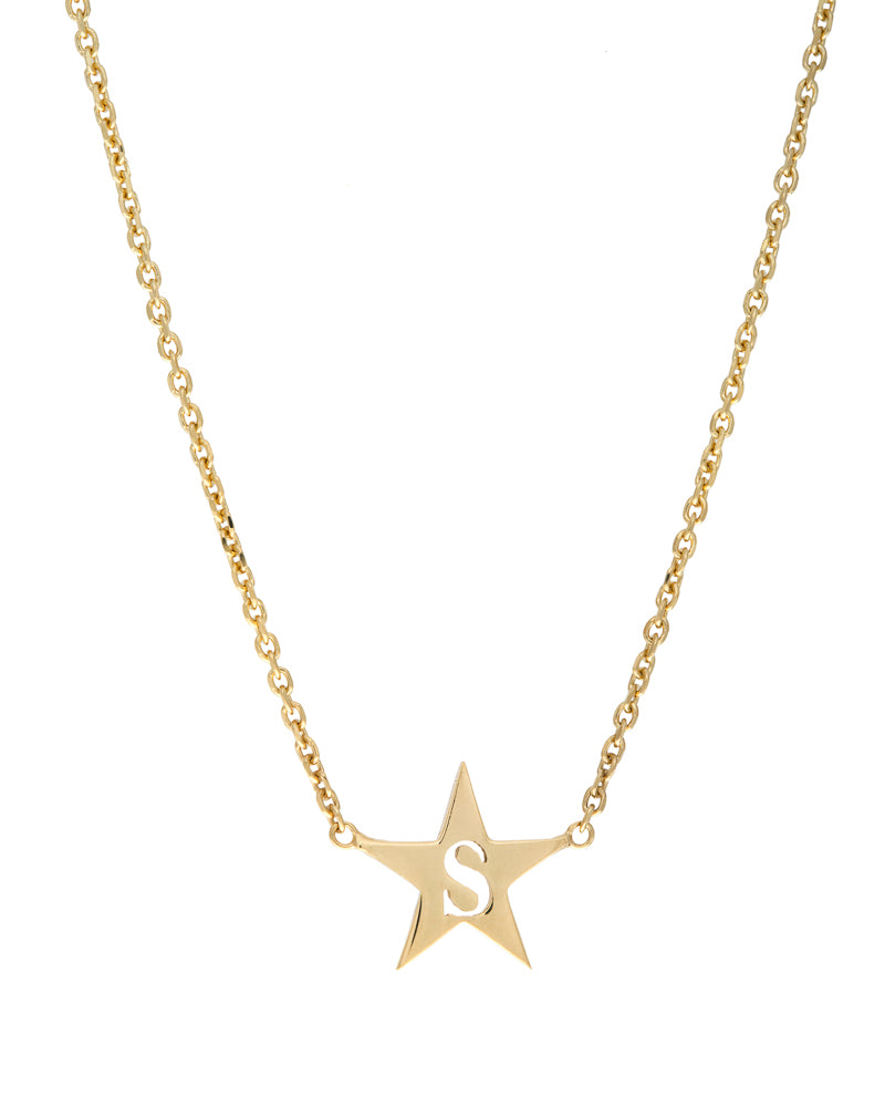 Star Initial Pendant Necklace