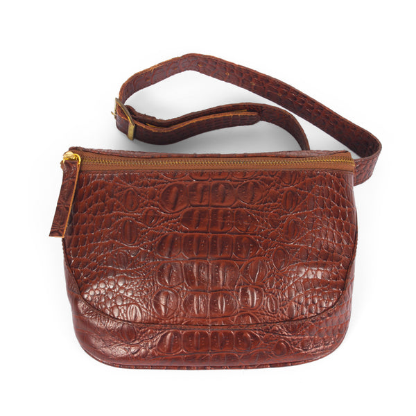 Soho-Croco Belt Bag-Camel