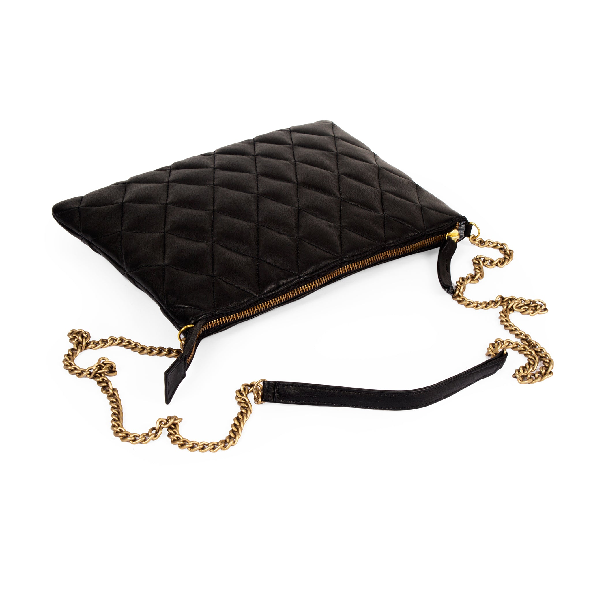 Chloé Quilted Leather Clutch Pouch-Black