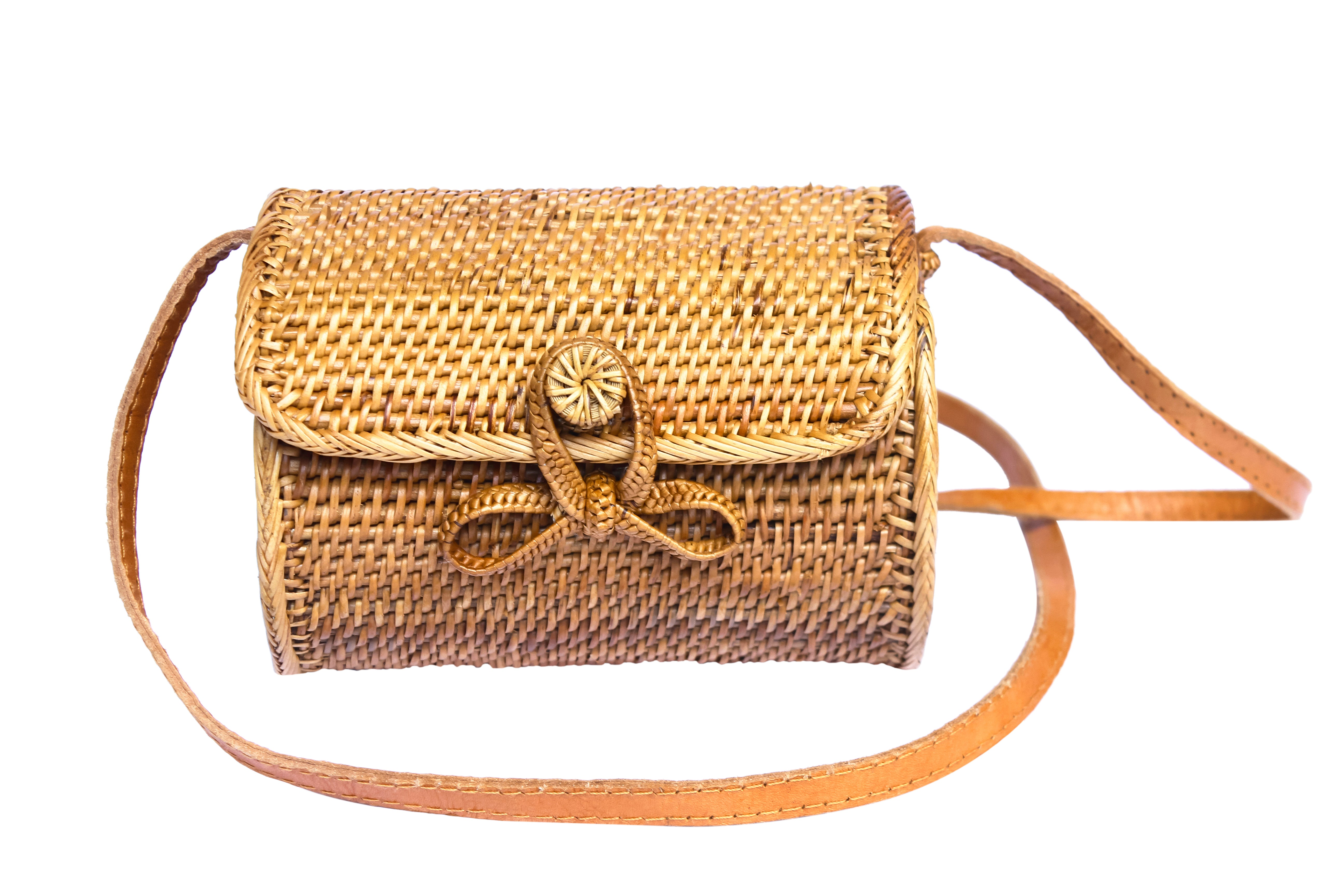 Barrel Basket Rattan Bag-Ata Bag