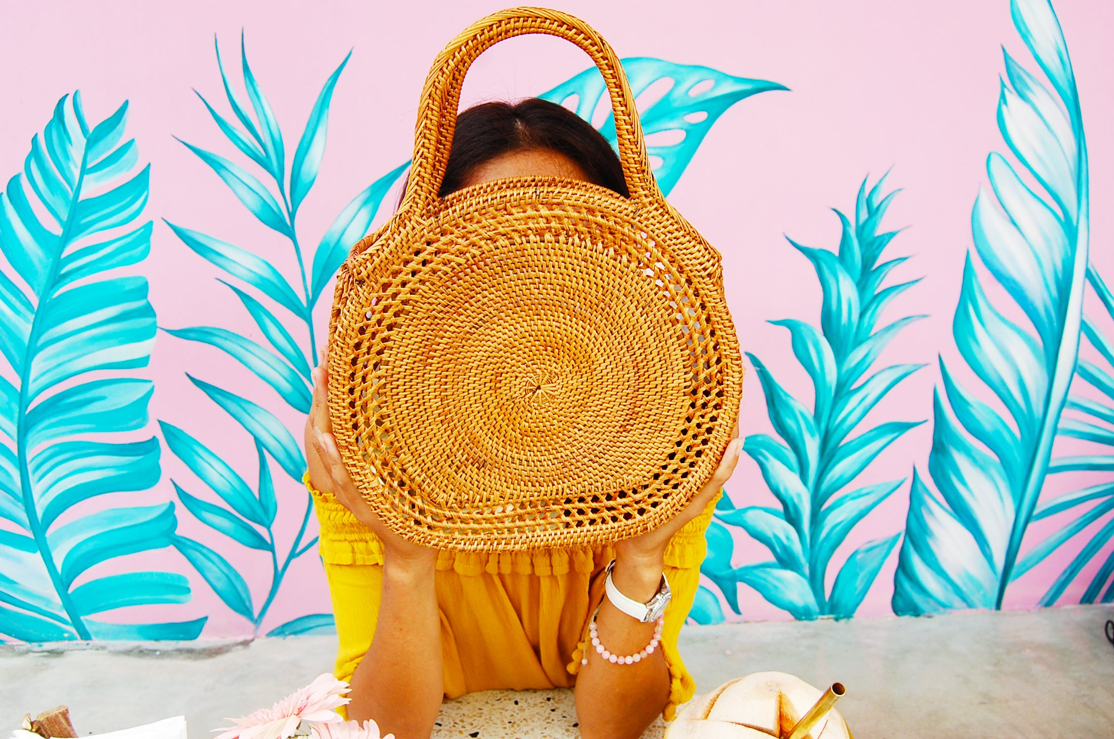Round Rattan Straw Handbag; Summer 2019 Basket Bag; Best Summer Basket Bags 2019