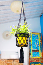 Inside Bathroom Macrame Hanging Planter