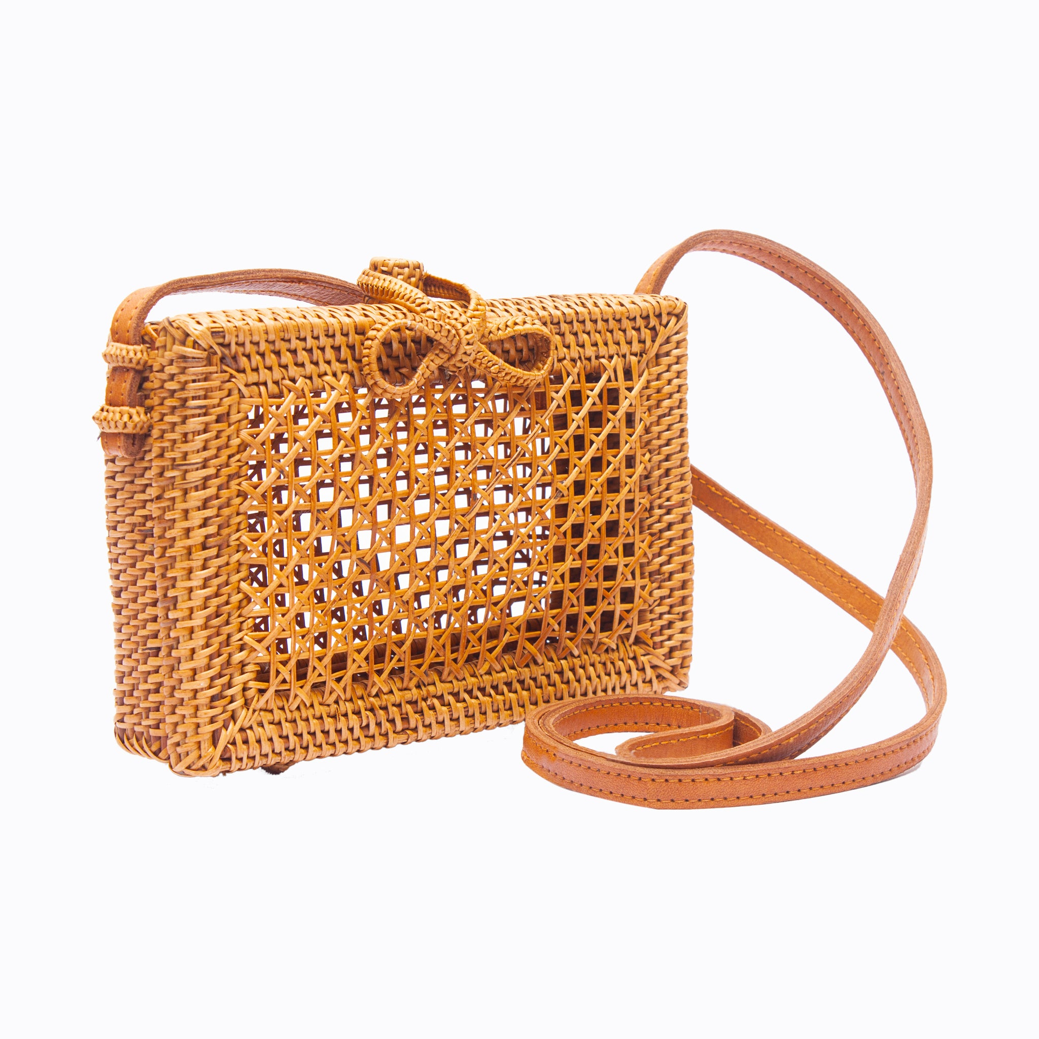 Rattan Basket Handbags for Women