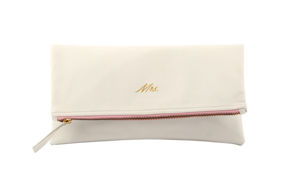 Mrs. Bridal Clutch; Mrs. Wedding handbag; Wedding Gift for bride; Bride to be Gift idea; Bridal Purse; Handbag for Brides