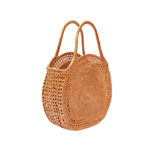 Top Handle Circle Bag; Bohemian Basket Bag; Bali Basket Bags; Ubud Basket Bags; Wholesale Basket Bags