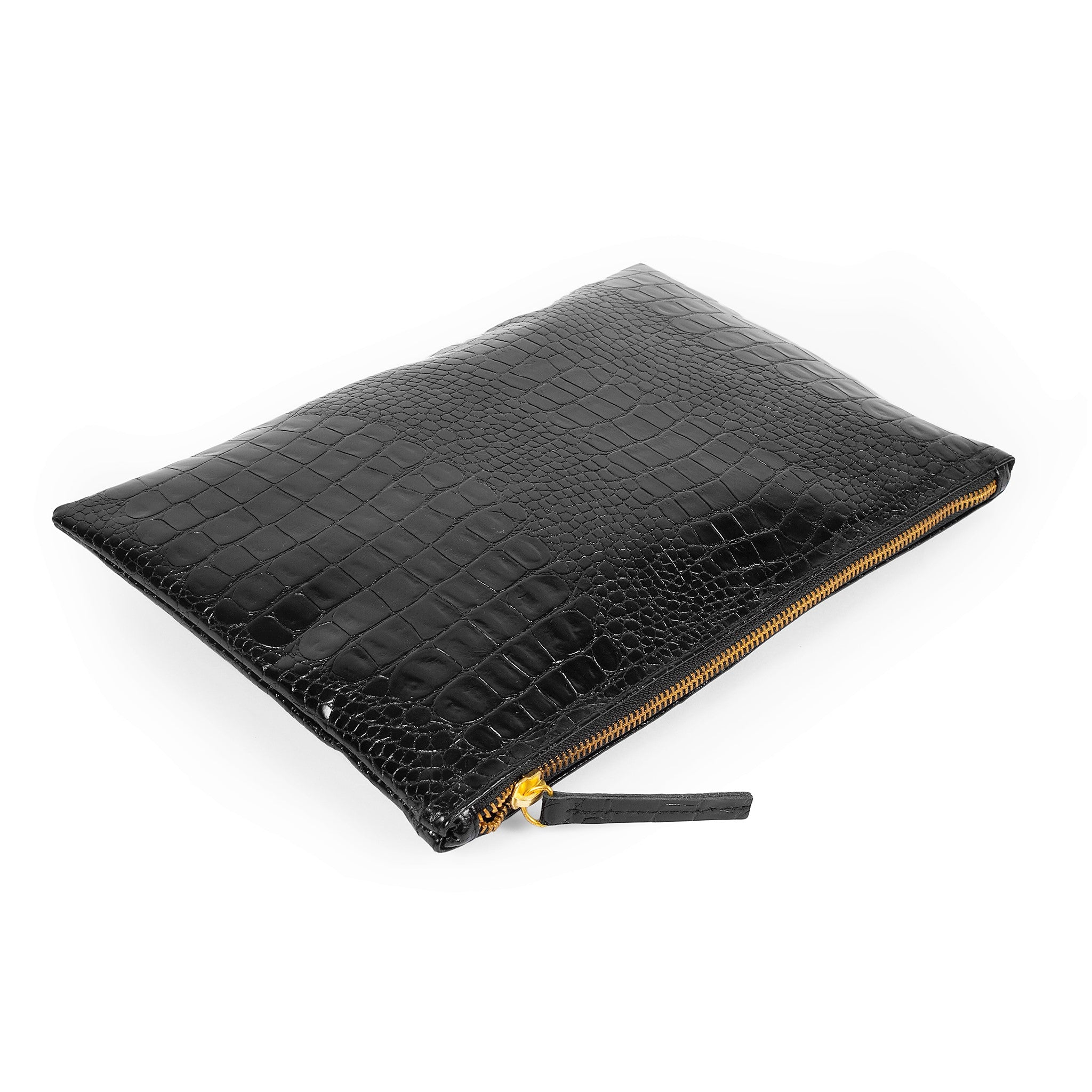 flat clutch purse, Black Handbag, leather clutch bags