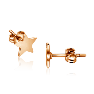 Star Shaped Stud Rose Gold Earring