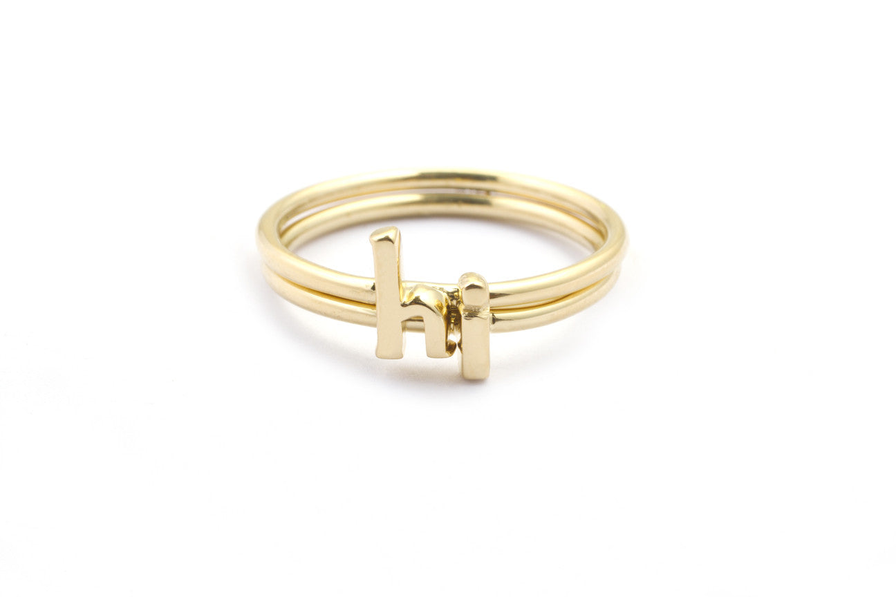 Alphabet Rings, Stackable Initial Rings