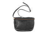 Soho-Crocodile Leather Fanny Pack-Black