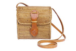 Small basket ata shoulder bag, small woven rattan bag, Ata bag, basket bag