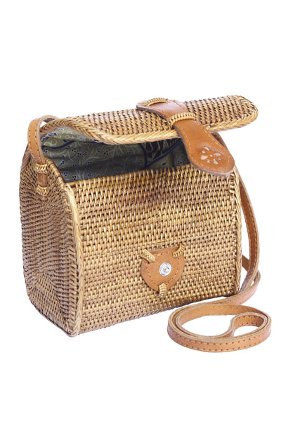 Raffia purse, straw crossbody bag, woven crossbody bag, rattan ata bag, hobo bag, basket shoulder bag, small crossbody ata bag