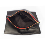 Foldover Clutch-All Black