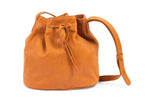Tan bucket bag; Bucket leather bag; crossbody bucket bag