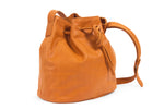 Crossbody bucket bag; tan crossbody bag; affordable duffle bag