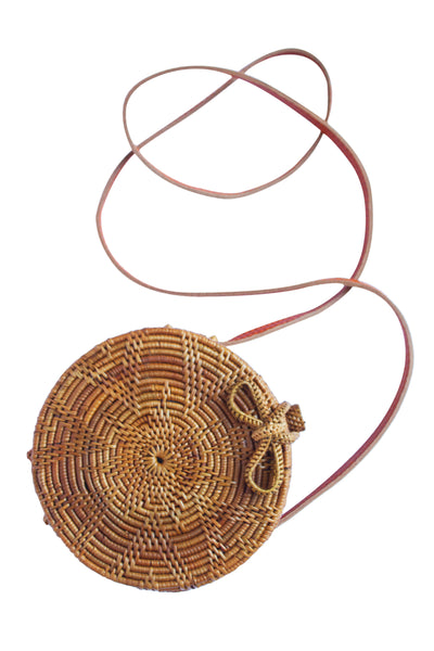 Round Rattan Bag; Round Straw Bag; Round bali bag; circle pattern bag; round beach bag; round wicker basket bag; basket bag