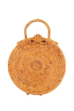 top handle circle bag; circle bag; round basket bag; summer bag trends 2018; ata bali beach bag; circle woven basket bag; bali bags; ata basket bag; rattan basket bag; round ata basket bag; round bag; bags and purses; handbags; round wicker basket bag; natural basket bag; round natural basket bag; beach basket bag; evening basket bag; resort wear accessories; beach accessories; vacation accessories; resort handbags; handbags for cruise; summer handbags