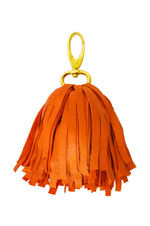 Pom Pom Leather Tassel