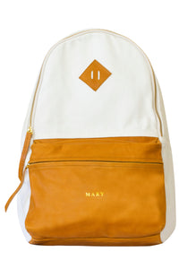 Leather + Canvas BackPack + Personalize It