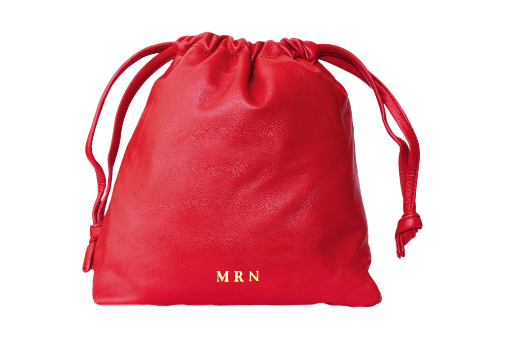 Drawstring Bag + Leather Drawstring Pouch + Personalize It