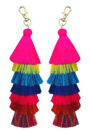 Tassel Bohemian Multi Color Key Chain