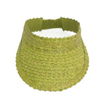 Straw Visor Wide Brim Sun Hat Bright Green Top View