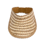 Straw Visor Wide Brim Sun Hat Natural Two tone TopView