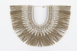 Wall Hanging Seagrass Shell Tribal Necklace