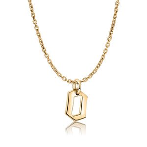 Gold Gothic O letter Necklace