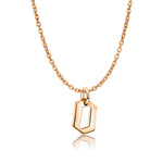 Rose Gold Gothic Letter O necklace