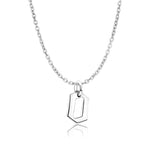 Sterling Silver Gothic Letter O Necklace