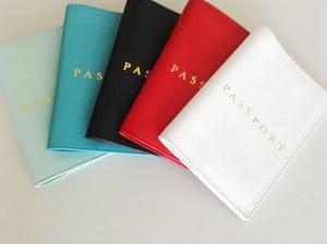 Passport cover; Cases and Covers; Leather Passport Cover; Monogrammed Personalized Passport Cover; Bride and Groom