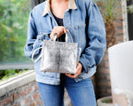 Everyday handbag; metallic silver bag; women's handbags and purses; tote bags from women; clare v tote mini; clare vivier handbag; afforable leather goods