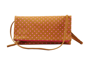 Splash Collection-Star Printed Foldover Clutch