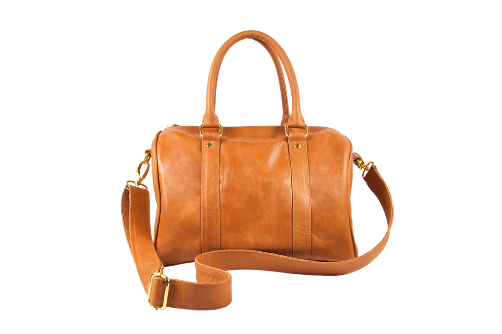 Camel speedy duffle women leather handbag