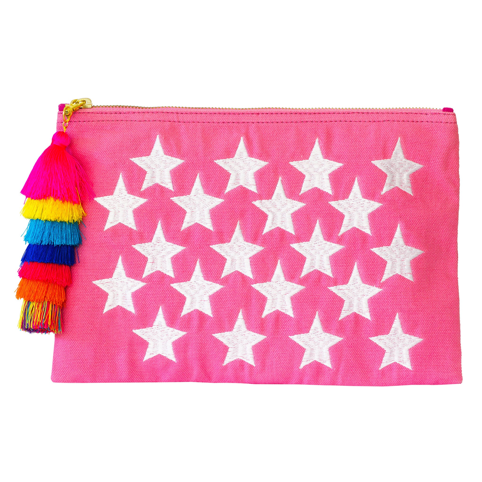 Star-Pom Pom Bohemian Clutch Purse