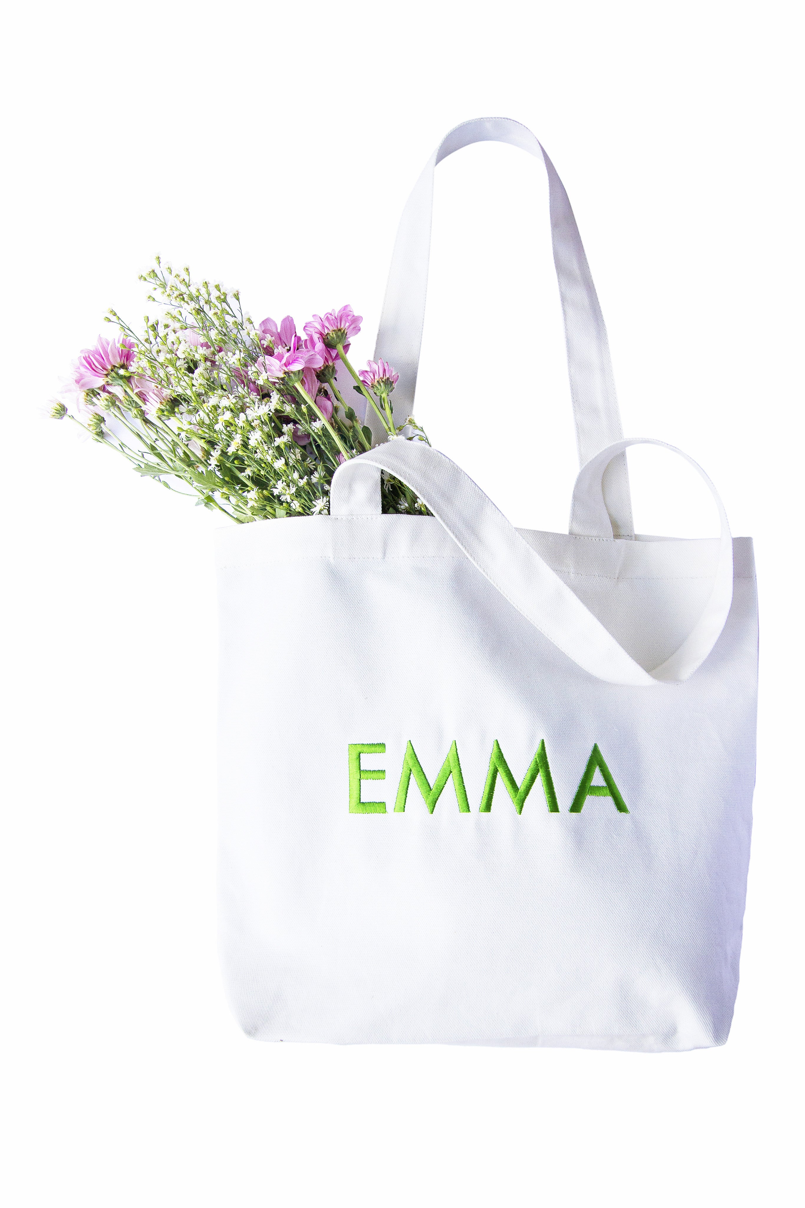 Simple Canvas Tote-Monogrammed Shopper