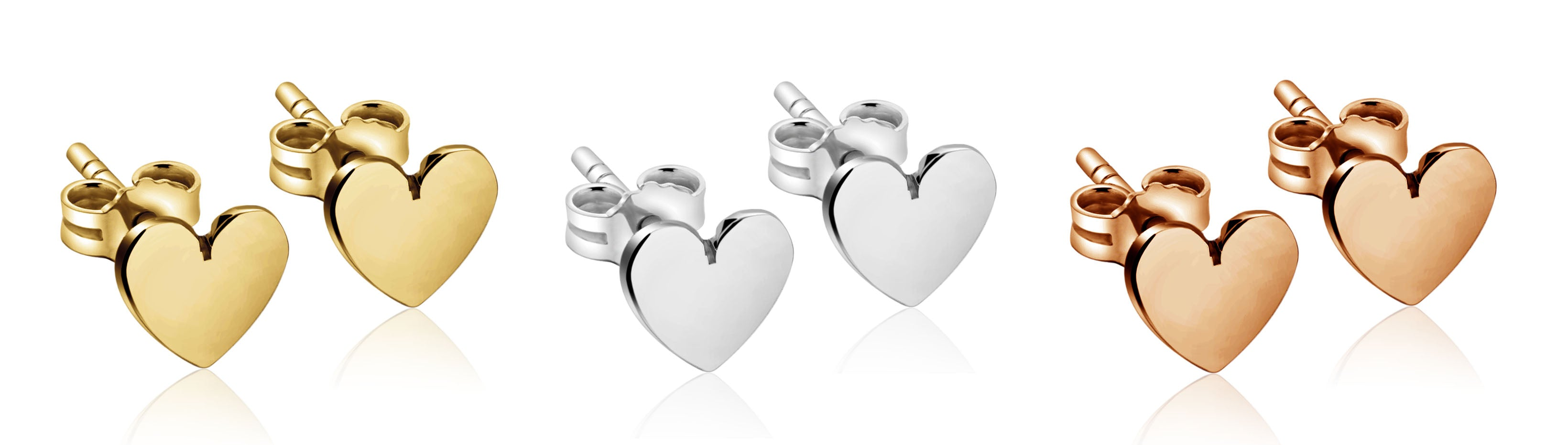 Heart Shaped Stud Earrings for Women Girls Her
