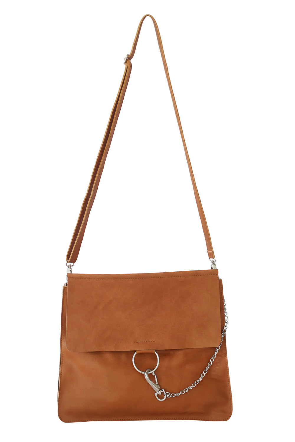 Bags and Purses; Crossbody Bag; Shoulder Bag; Tan Shoulder Bag; Ring detail handbag; Chloe Faye Dupe crossbody bag