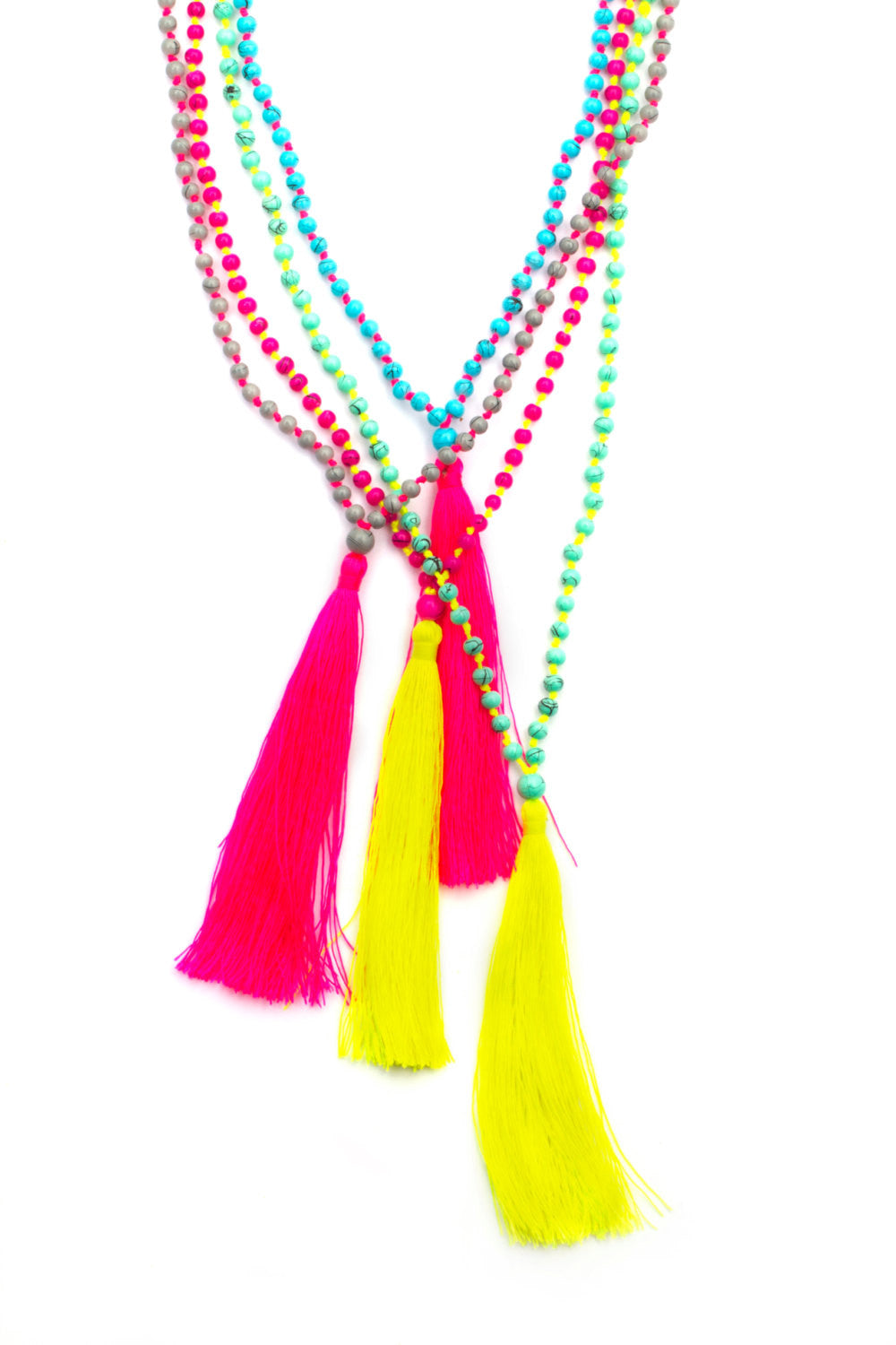 Hippie Chic Long Tassel Necklace